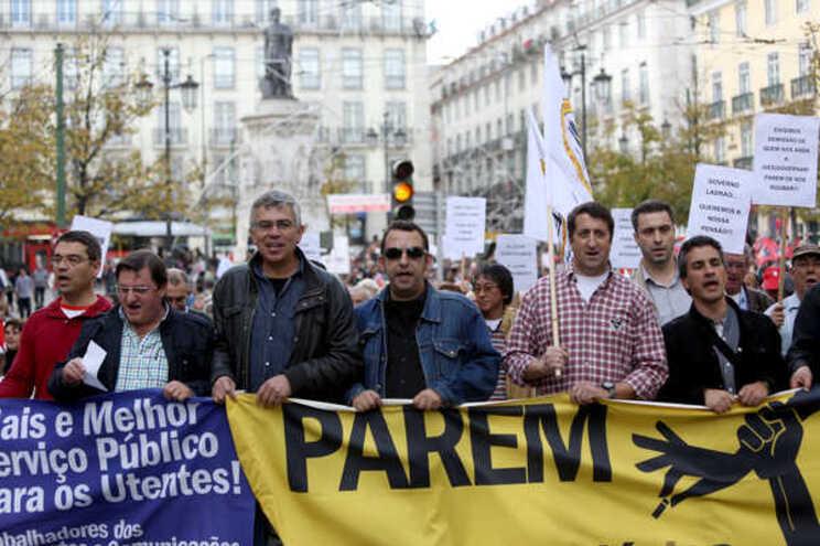 Fectrans concentra-se junto ao Parlamento no dia 5 de fevereiro