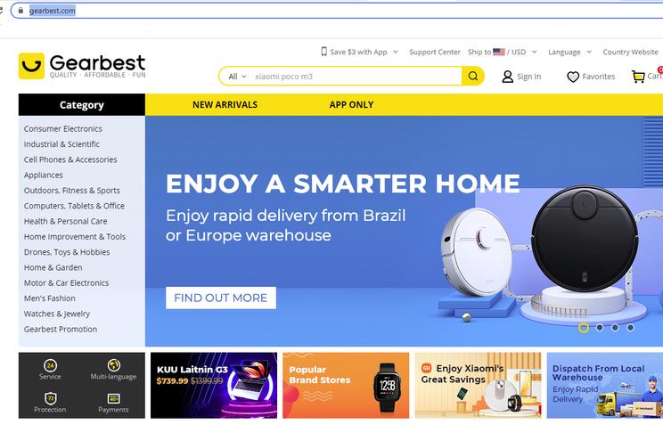 Gearbest voltou com indefinições mas suporte ao cliente parece funcionar