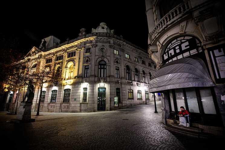 No primeiro confinamento, as ruas portuguesas ficararam desertas