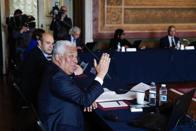 O primeiro-ministro, António Costa, preside à reunião extraordinária do Conselho de Ministros