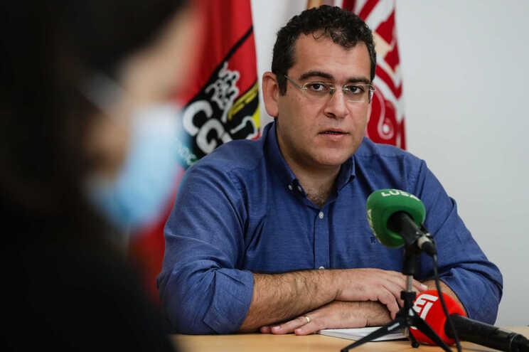Sebastião Santana, dirigente da Frente Comum