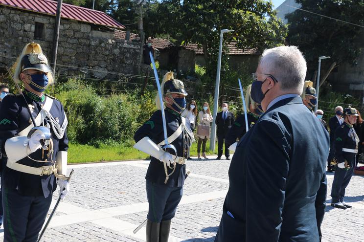 Ministro Eduardo Cabrita na inauguração do quartel da GNR em Paço de Sousa