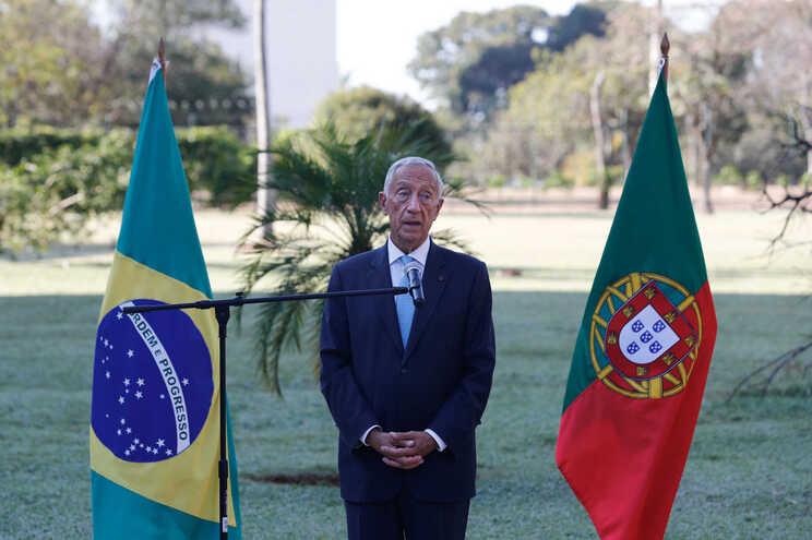 Marcelo Rebelo de Sousa esteve no Brasil com o ministro dos Negócios Estrangeiros
