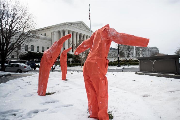 Protesto contra a pena de morte em Washington, capital dos EUA