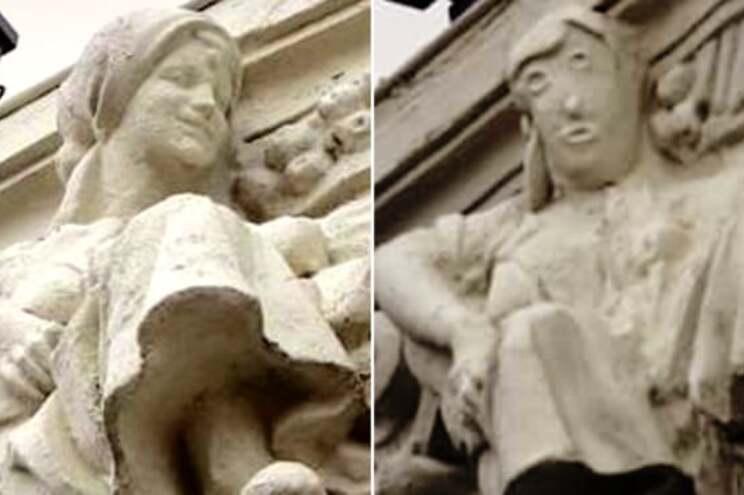 O antes e o depois da obra restaurada num edifício do início do século XX de Palencia, em Espanha