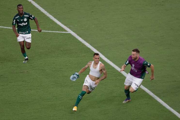 Breno marcou o golo do Palmeiras
