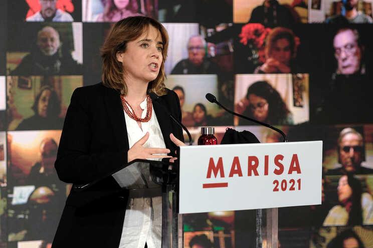 No penúltimo dia de campanha, Catarina Martins voltou a discursar numa ação da candidatura presidencial