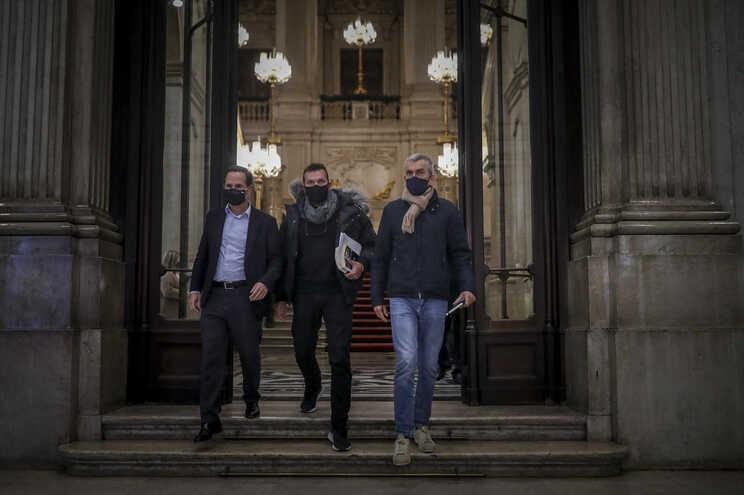 Lisboa, 03/12/2020 - Ljubomir Stanisic e José Gouveia, em greve de fome, foram recebidos esta noite nos