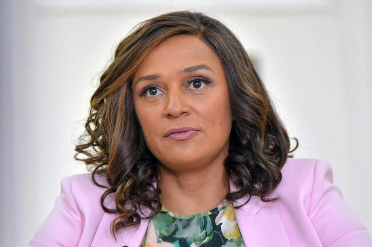 Isabel dos Santos durante uma entrevista à agência Lusa