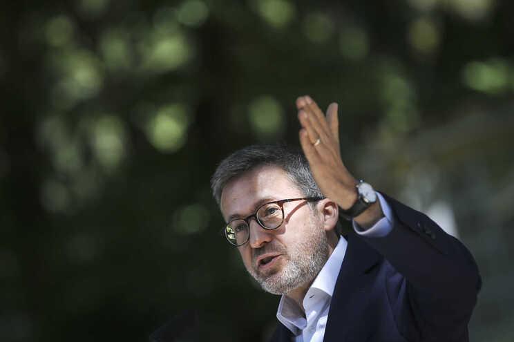 """O candidato da coligação autárquica (PSD, CDS-PP, PPM, MPT e Aliança) para Lisboa """"Novos Tempos"""", Carlos"""