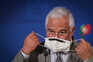 Portuguese Prime Minister Antonio Costa attends a press conference after the European Council meeting