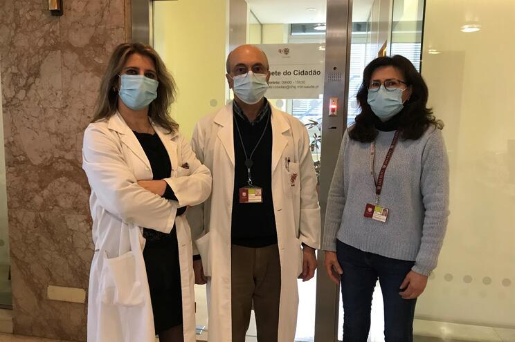 Carla Oliveira, David Costa e Palmira Vale, do Gabinete do Cidadão do Hospital de S. João