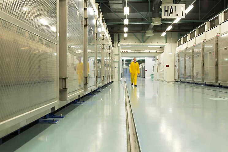Fotografia divulgada em novembro de 2019 pela Organização de Energia Atómica do Irão mostra o interior