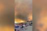 Fogo em Castro Marim cobre praia da Alagoa com nuvem de fumo vermelha