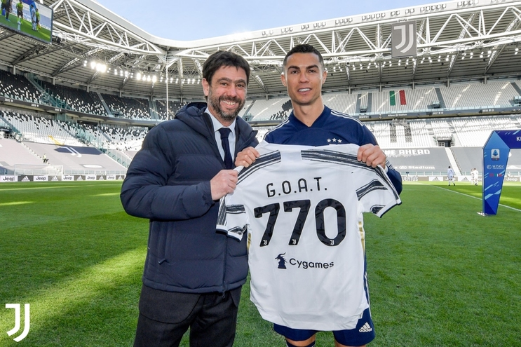 Agnelli e Cristiano Ronaldo