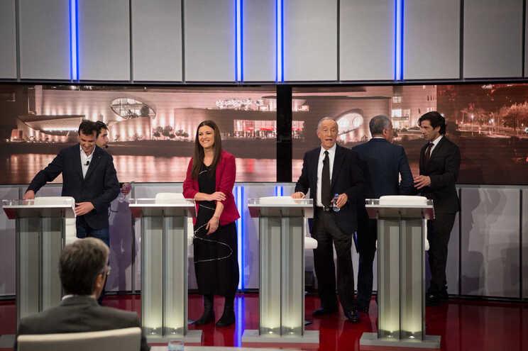 O primeiro debate é este sábado na RTP1, entre Marcelo Rebelo de Sousa e Marisa Matias