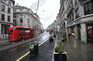 Ruas de Londres estão desertas devido à nova estirpe do coronavírus
