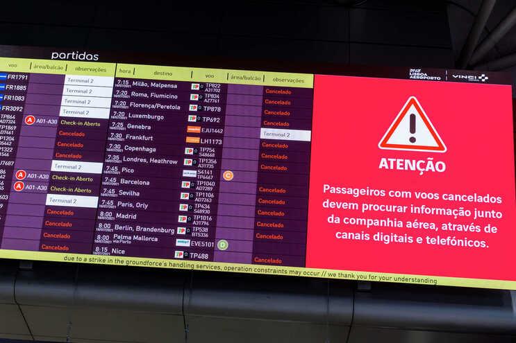 Centenas de voos foram cancelados devido à greve da Groundforce no último fim de semana
