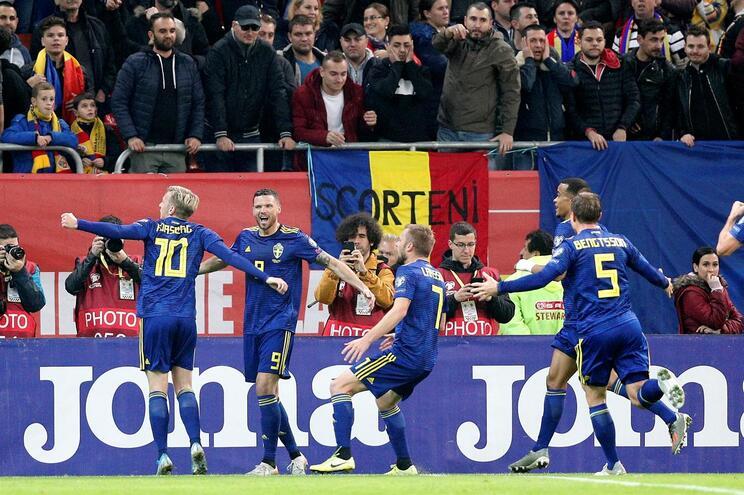 Suécia vence Roménia e garante passaporte para a fase final do Euro 2020