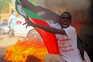 Manifestação em Cartum de apoio a um governo civil (21 de outubro)