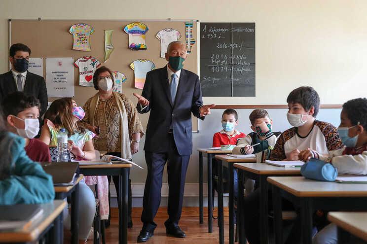 Presidente da República visitou a Escola Básica Francisco de Arruda, em Lisboa
