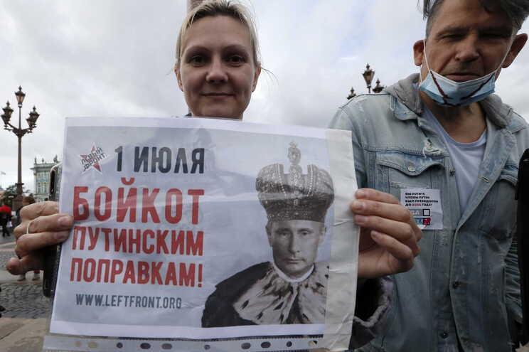 Protesto contra Putin na Rússia