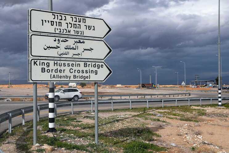 Ponte de Allenby, uma passagem fronteiriça com a Jordânia