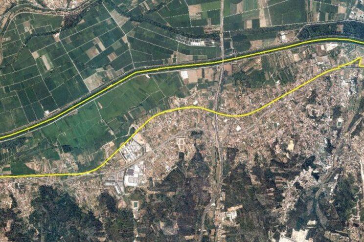 Mapa mostra que área deve ser evacuada pela população em Coimbra