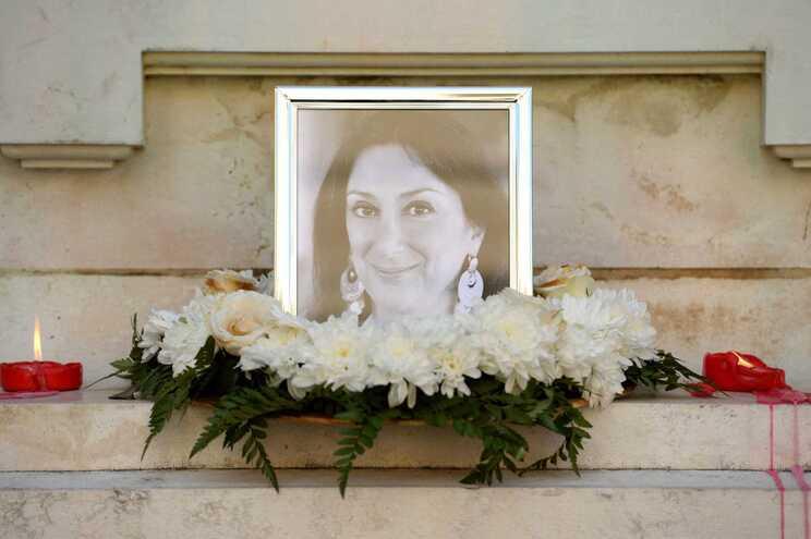 Homenagem à jornalista Daphne Caruana Galizia
