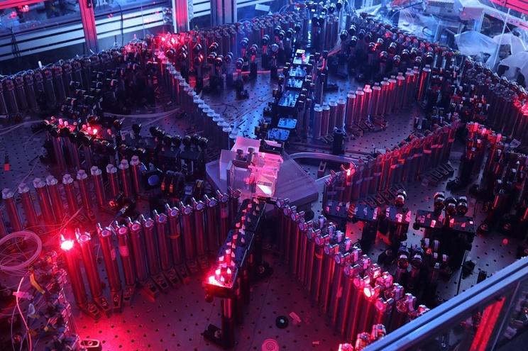 Uma imagem do Jiuzhang, o supercomoutador à base de luz
