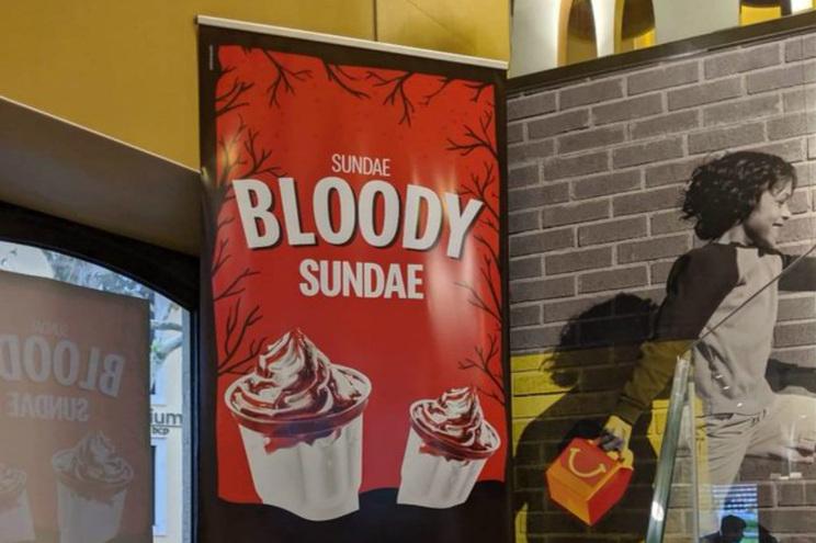 """Sundae Bloody Sundae"". McDonald's Portugal retira anúncio com referência a massacre irlandês"