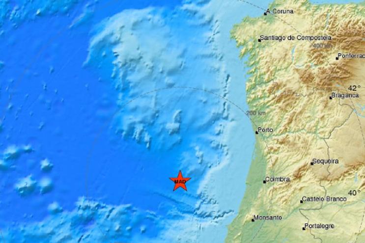 Sismo de 4,6 de magnitude foi registado no mar ao largo de Peniche