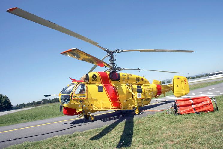 Everjets foi a empresa que ganhou o concurso para combater incêndios com helicópteros Kamov
