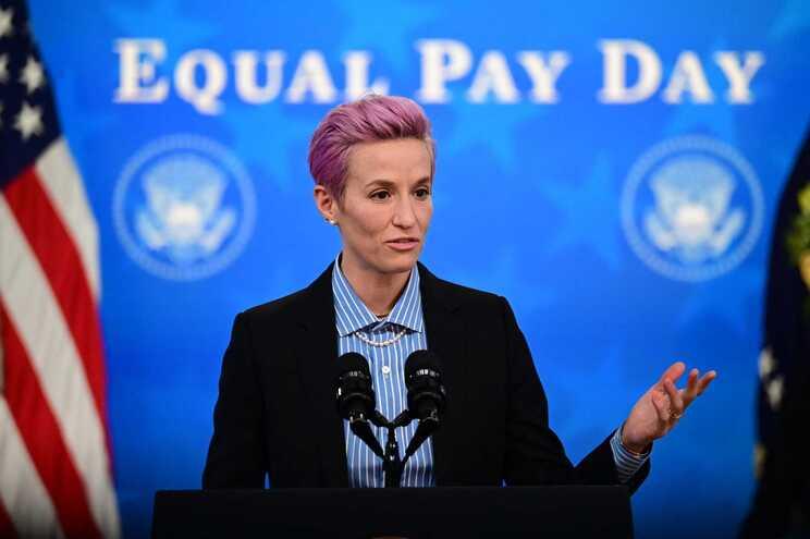 Megan Rapinoe é uma das jogadoras mais ativistas por um salário mais justo
