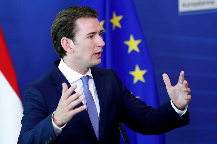 O chanceler conservador austríaco, Sebastian Kurz