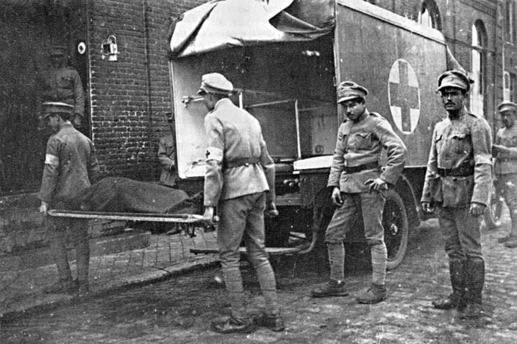 Concentração de milhões de soldados criou as condições ideais para a propagação da gripe