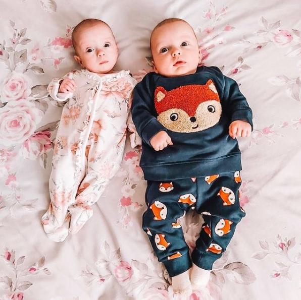 Noah e Rosalie nasceram a 17 de setembro de 2020
