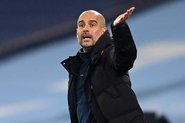Pep Guardiola, treinador do Manchester City