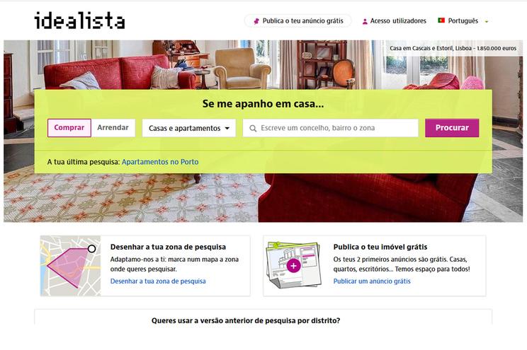 Portal idealista opera em Espanha, Itália e Portugal