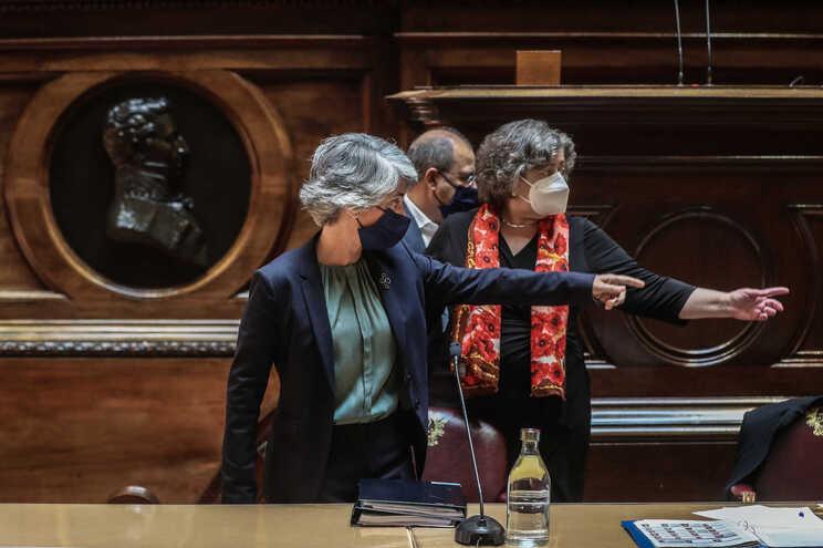 Graça Fonseca e Ana Paula Vitorino na audição parlamentar desta terça-feira