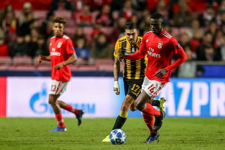 Alfa Semedo representou o Benfica em 2018/2019