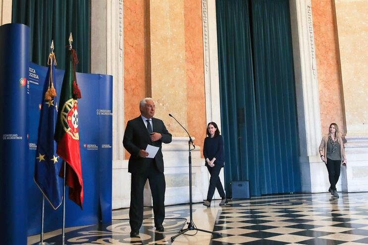 O primeiro-ministro, António Costa, anunciou as medidas do Governo sobre o estado de emergência nacional