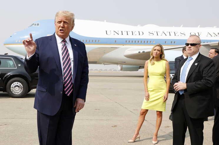 Donald Trump à chegada à Califórnia