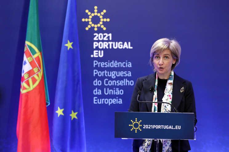 Marta Temido presidiu, nesta manhã, a videoconferência informal dos ministros da Saúde da União Europeia