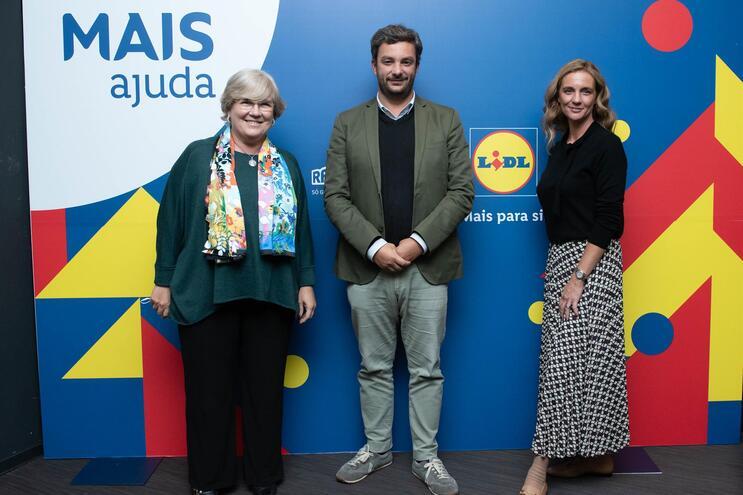 Isabel Figueiredo, do Grupo renascença, Diogo Teixeira, da Beta-i, e Vanessa Romeu, do Lidl
