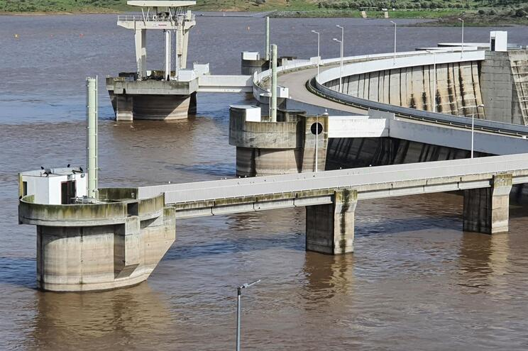 Barragem do Alqueva estava esta terça-feira com 79,73% da sua capacidade máxima
