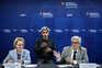 Graça Freitas e António Lacerda Sales na conferência de imprensa sobre a pandemia em Portugal