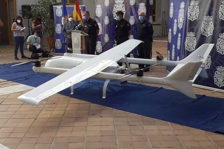 Drone com 150 quilos de capacidade usado para trazer droga de Marrocos