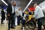 Jerónimo de Sousa, secretário-geral do PCP, acompanhou Ana Sezudo, portadora de deficiência, numa viagem