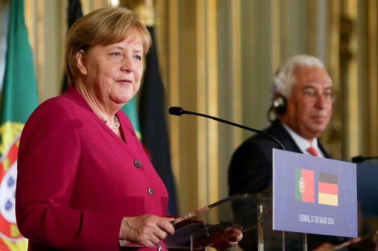 Merkel e Costa no Palácio Foz